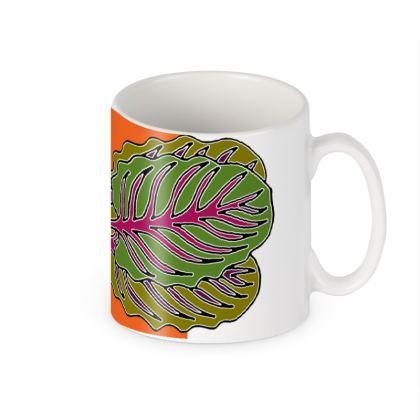 Beetroot Colour Block Ceramic Mug