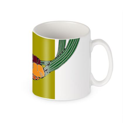 Carrot Colour Block Ceramic Mug