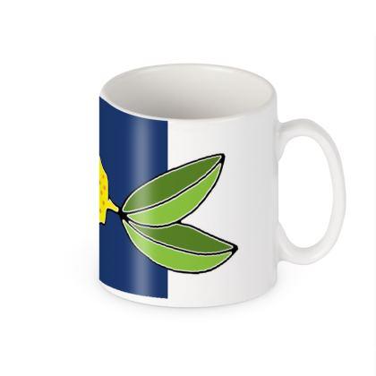 Lemon Colour Block Ceramic Mug