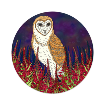 Fireweed Barn Owl Serving Platter
