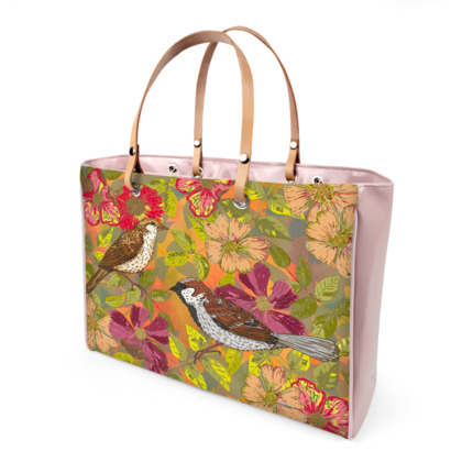 Sweet Sparrows and Briar Rose Handbag