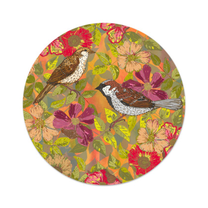 Sweet Sparrows and Briar Rose Serving Platter