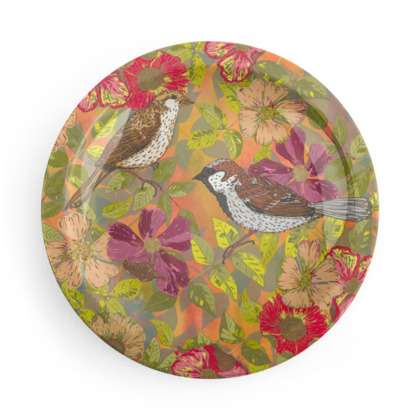 Hedgerow Birds Party Plate Set