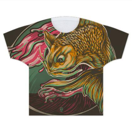 Japanese Fish Kids T Shirts