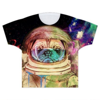 Astronault Pug COLOR Kids T Shirts