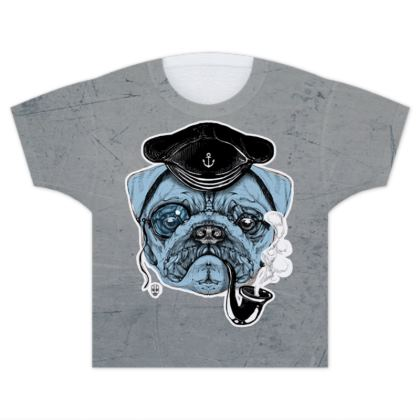 Sailor Pug Kids T Shirts
