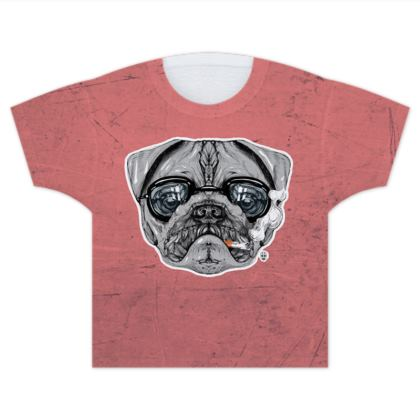 Intelectual Pug Kids T Shirts