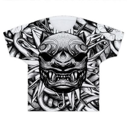 Japanese Tiger Kids T Shirts