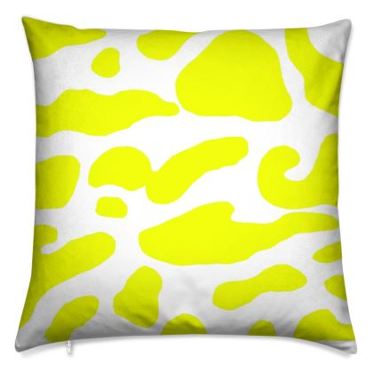 Yellow clam print Cushion