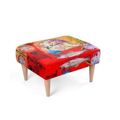 492,- Fußhocker CHINA RED ninibing34 Design