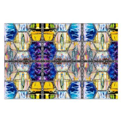 """MEDUSA MIAMI BLUE!""  167 x 110 cm klassisch #ninibing34 lang retro Design silky Sarong by ninibing34"