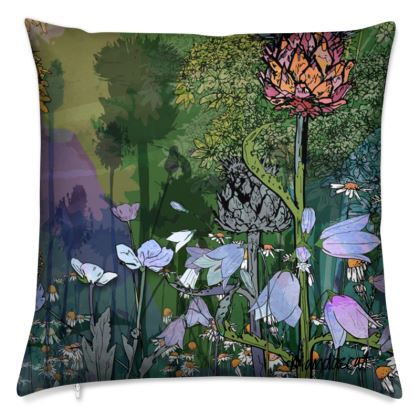 'Dappled Thistle' Scatter Cushion