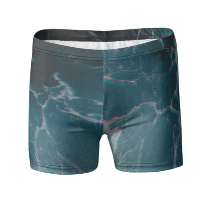 "Swimming Trunks ""Marbled Ice"""