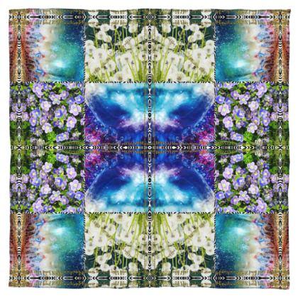 MIAMI MEDUSA BLUE #ninibing34 Designer 🧣 Scarf 100% reines Silk Satin