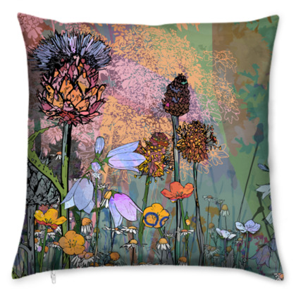 'Thistle in Light' Scatter Cushion