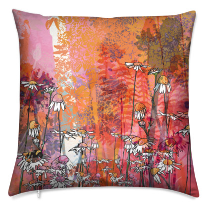 'The Sun, the Bee and the Daisy' Scatter Cushion