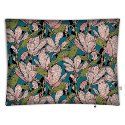 Magnificent Magnolias Rectangular Floor Cushion