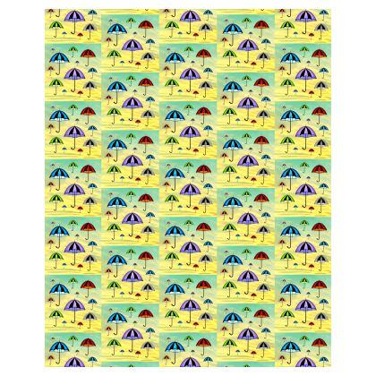Cute Yellow Rain Umbrella Summer Pattern Bean Bags