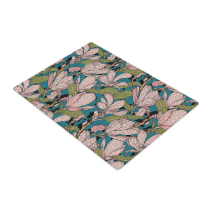 Magnificent Magnolias Glass Chopping Board
