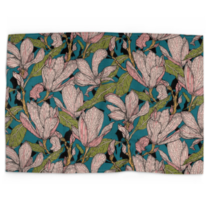 Magnificent Magnolias Tea Towel