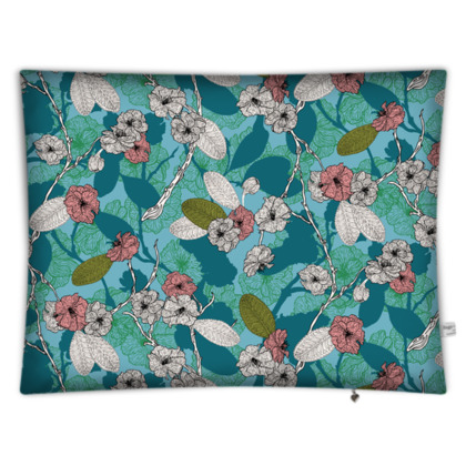 Cherry Blossom Rectangular Floor Cushion