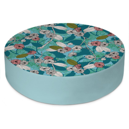 Cherry Blossom Round Floor Cushion