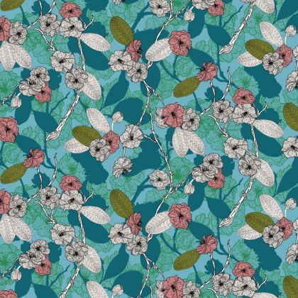Cherry Blossom Fabric Placemat