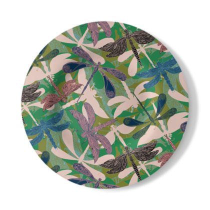 Dancing Dragonflies Decorative Plate