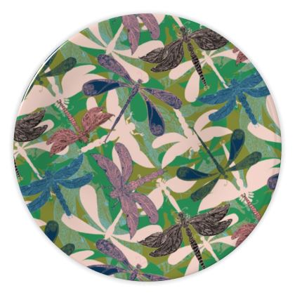 Dancing Dragonflies China Plate