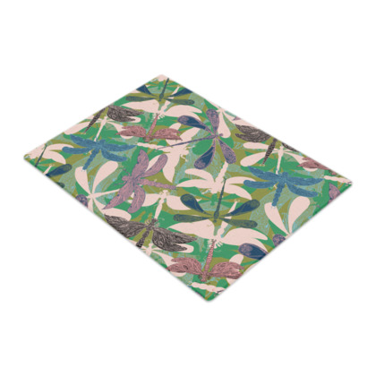 Dancing Dragonflies Glass Chopping Board