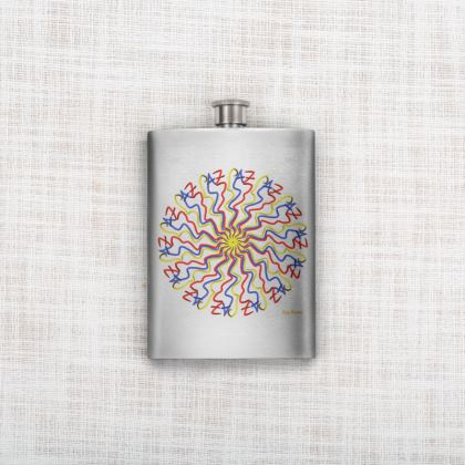 Escribo Paz Mode Hip Flask