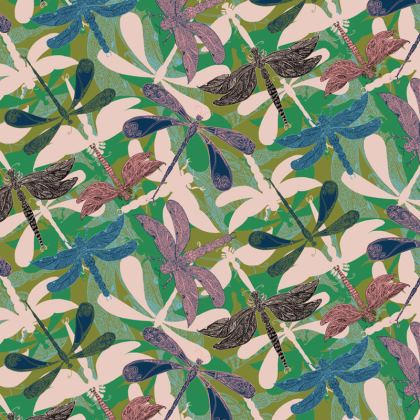 Dancing Dragonflies Fabric Placemat