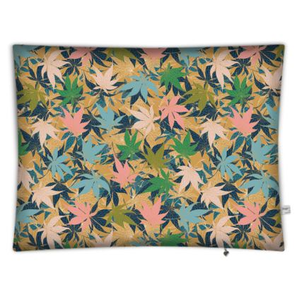 Maple Leaves Rectangular Floor Cushion