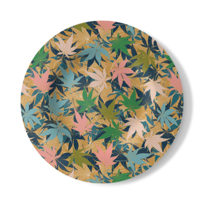 Maple Leaves Decorative Plate