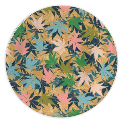 Maple Leaves China Plate