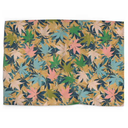 Maple Leaves Tea Towel