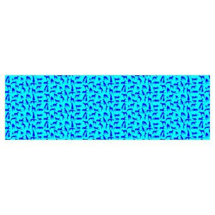 """Stoff """"Sighthounds blau-türkis"""" (50cm x Druckbreite)"""