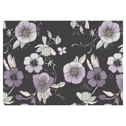 Christmas rose Flared Skirt