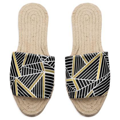 Ab Lines Gold Sandal Espadrilles