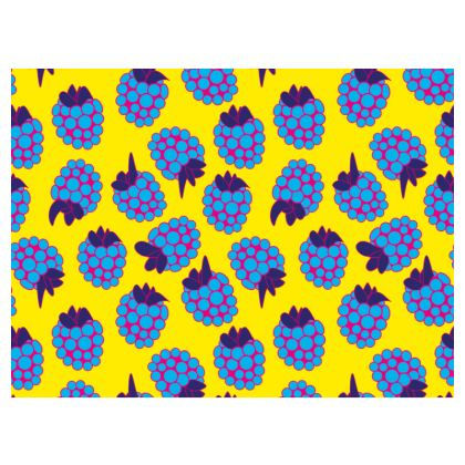 Blue Raspberry Waltz Espadrilles In Bright Yellow