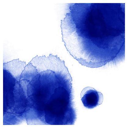 Cojines Blue Watercolor