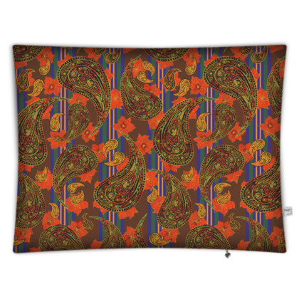 Paisley Stripe Rectangular Floor Cushion