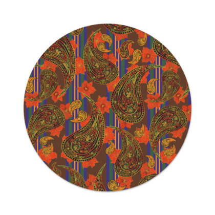 Paisley Stripe Serving Platter