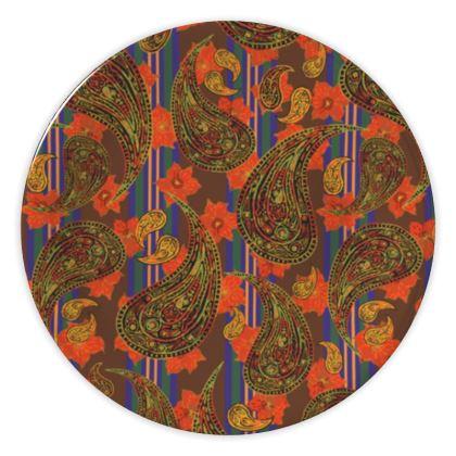 Paisley Stripe China Plates