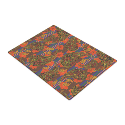 Paisley Stripe Glass Chopping Board