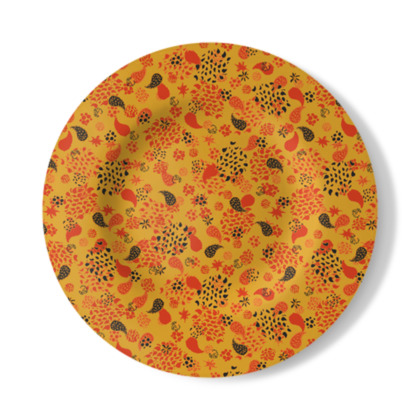 Ditsy Paisley Decorative Plate
