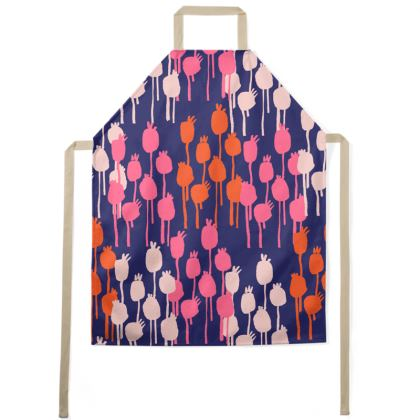 Seed Pods Graphic Print Apron