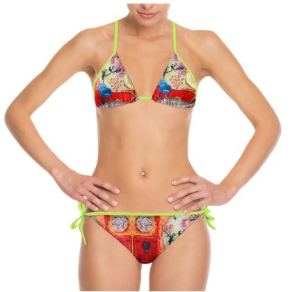 Bikini CHINA 🇨🇳 RED Size S, Cup B by ninibing34