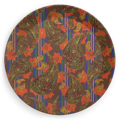 Paisley Pattern Party Plate Set