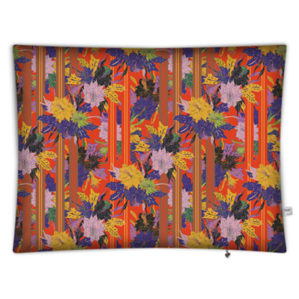 Floral Stripe Floor Cushion